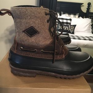 Sperry Men's Decoy Wool Duck Rain boots size 8
